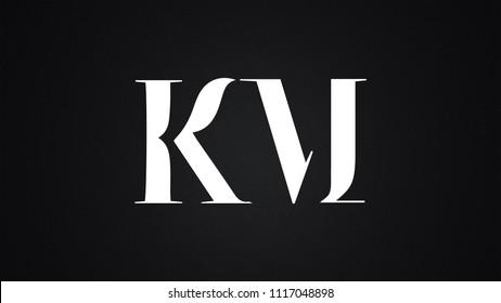 KM Letter Logo Design Template Vector