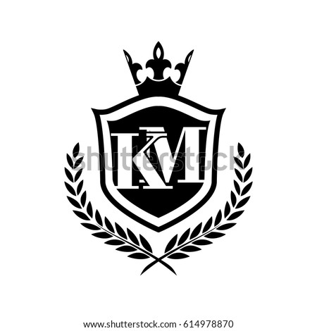 Km Logo Stock Vector Royalty Free 614978870