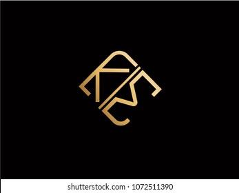 KM square shape Letter logo Design