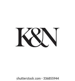 K&N Initial logo. Ampersand monogram logo
