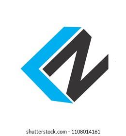 kn lettervector logo. ln letter vector logo