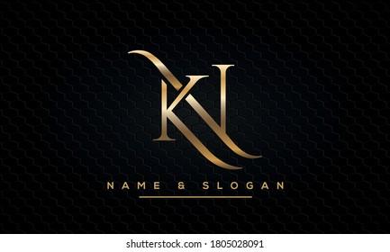 KN, NK, K, N Letter Logo Alphabet Template