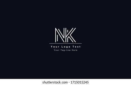 KN or NK letter logo. Unique attractive creative modern initial KN NK K N initial based letter icon logo