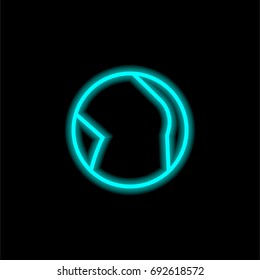 Knee blue glowing neon ui ux icon. Glowing sign logo vector