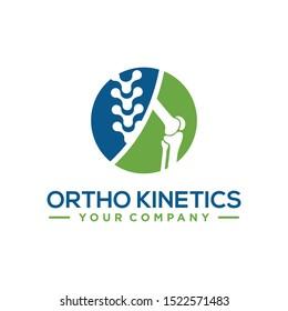 knee joint bone logo vector illustration design