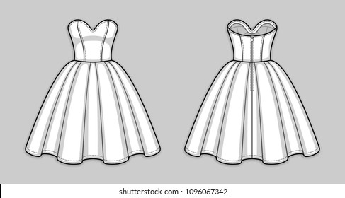 Prom Dress Sketch Images, Stock Photos & Vectors | Shutterstock