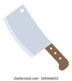 A butcher's knife to cut meat, a cleaver
