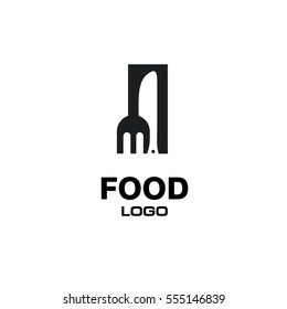 Knife and Fork Food Logo