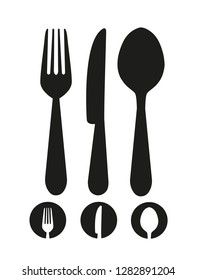 Knife, fork and spoon icon vector