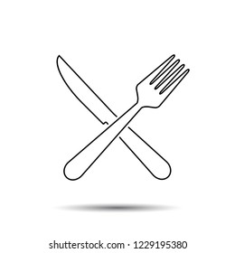 Knife and Fork. Vector