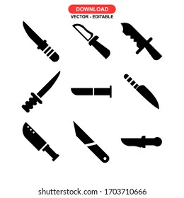 knife icon or logo isolated sign symbol vector illustration - Collection of high quality black style vector icons
