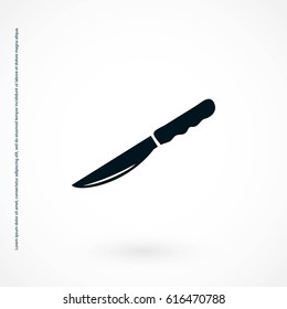 Knife icon vector, flat design best vector icon