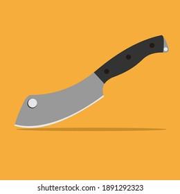 knife kitchen tools vector design. butcher knife