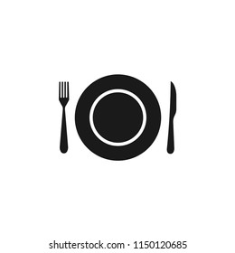knife,fork,plate vector icon.dinner, meal,food,kitchen,lunch,utensil,eat, dining,dishware,flatware, banquet,breakfast,setting,cooking,dish symbol isolated for web and mobile app