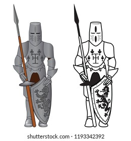 Knight Armor vector