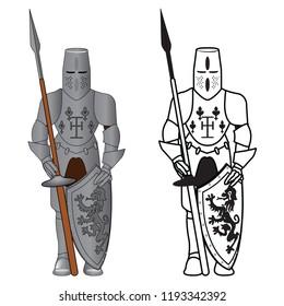 Knight Armor vector