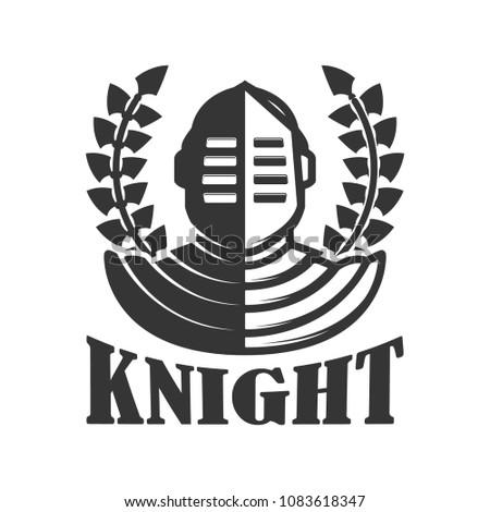 knight emblem template medieval knight helmet stock vector royalty