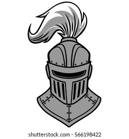 Knight Front View Illustration