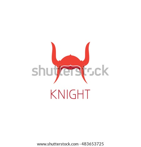 Knight Helmet Logo Graphic Design Concept Stock Vector (Royalty Free ...
