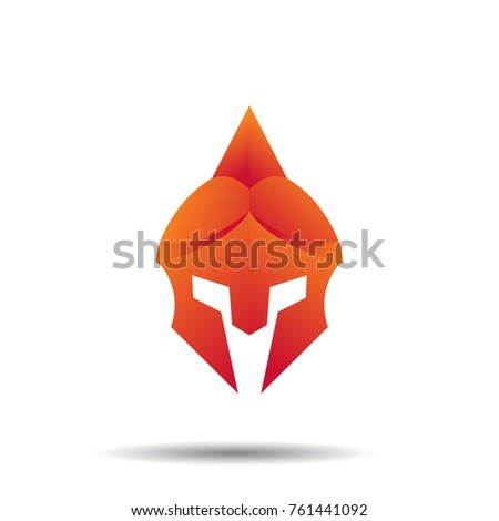 Knight Helmet Logo Template Knight Helmet Stock Vector (Royalty Free ...