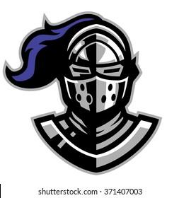 knight helmet mascot