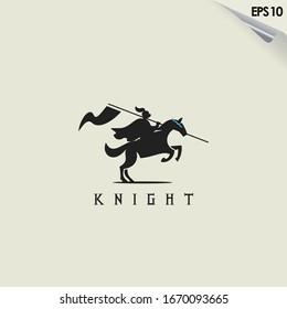 Knight Horse Logo Design. Knight Horse Logo Template. Modern Design. Flat Logo. Vector Illustration - Shutterstock ID 1670093665