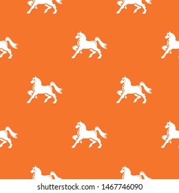 Knight horse mascot pattern vector orange for any web design best