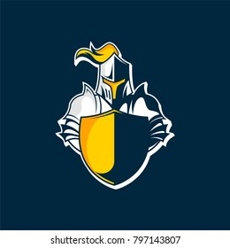 Knight logo vector. Great logo vector