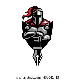 Knight and Nib logo