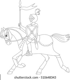 Knight and horse coloring pages - Hellokids.com | 280x246