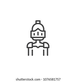 Knight outline icon. linear style sign for mobile concept and web design. Warrior knight simple line vector icon. Symbol, logo illustration. Pixel perfect vector graphics