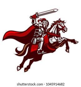 Knight Riding Horse