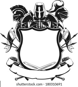 Knight & Shield Silhouette Ornament