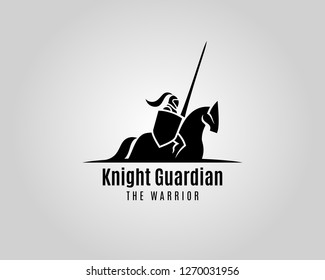 Knight with shield and spear on a horse