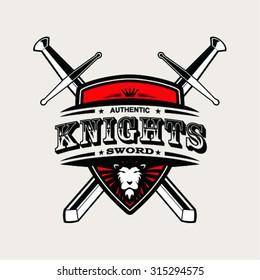Knight Sword sign , vector illustration