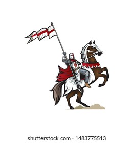 Knight Templar version 2 vector Illustration. also known as the Crusader or Paladin' can be used for education or history book, tshirt printing, poster, or any other purpose