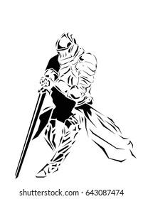 knight tribal vector