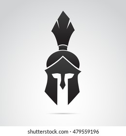Knight, warrior, soldier helmet icon isolated on white background. Vector art.