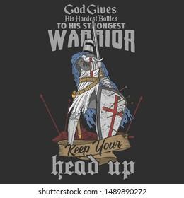 knight warrior veteran illustration vector