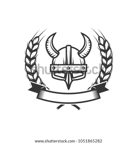 Knights Emblem Template Medieval Knight Helmet Stock Vector (Royalty ...