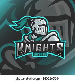 Knights Logo Mascot Vector Illustration for logo gaming template