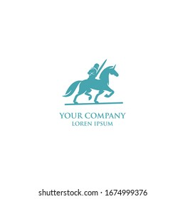 the knight's logo on a horse