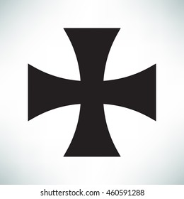 Knights Templar cross icon