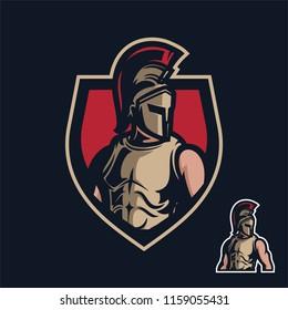 knight/sparta sport gaming mascot logo template