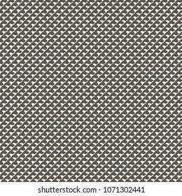 Knit with grid or mesh pattern. Fabric detail in half tone. Vector illustration.