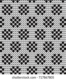 Knitted abstract seamless pattern