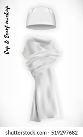 White Scarf Mockup Stock Vectors, Images & Vector Art