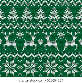 Knitted Christmas and New Year pattern