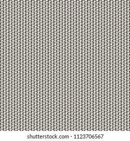 Knitted cotton fabric. Monochrome graphic pattern. Vector illustration.