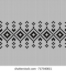 Knitted decorative seamless border